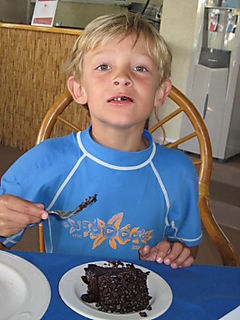 Daddy Cakes Grant with Chocolate Cake