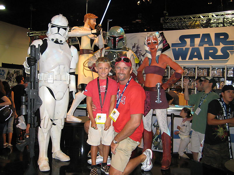 Daddy Cakes and Star Wars live action figures