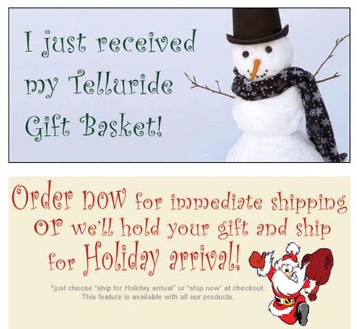 Telluride Gift Basket-Christmas Gift Baskets