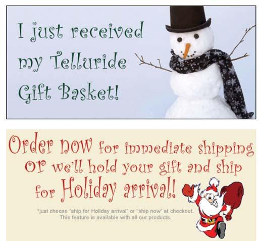 Telluride Gift Basket-Christmas Gift Baskets