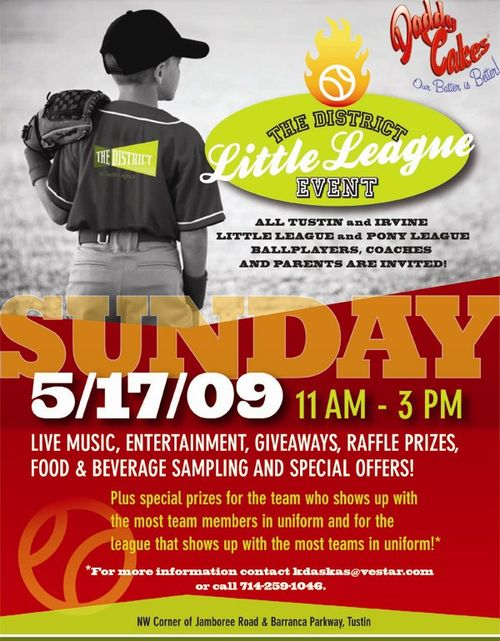 Daddy Cakes Little League Flyer