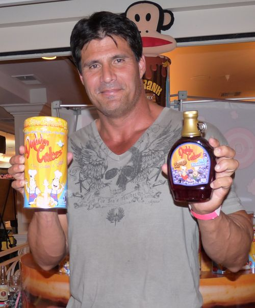 Jose Canseco with Daddy Cakes
